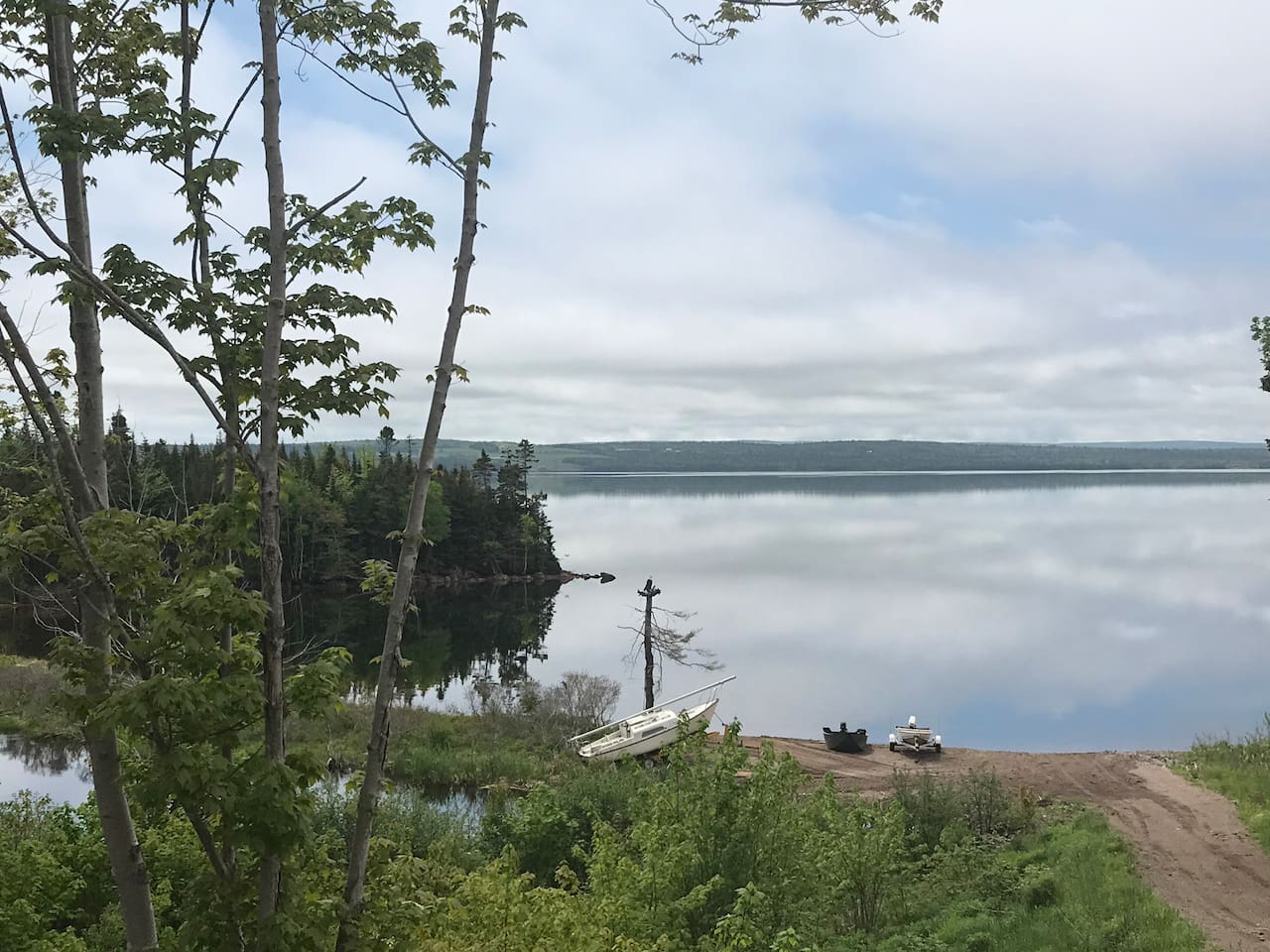 Image of the beach that you have access to on the property.  Great for swimming, fishing,  or launching your canoe/kyak/etc.