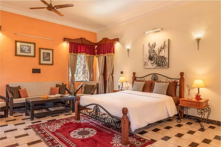 Master Bedroom in Portuguese Luxury Villa in N Goa