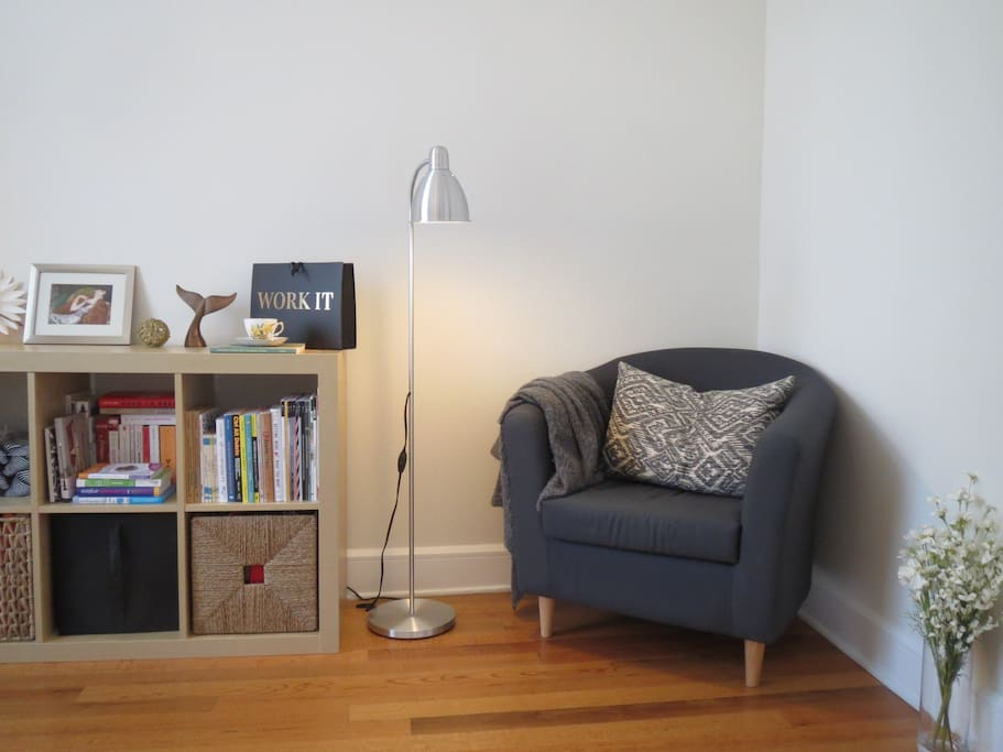 Home office and reading nook