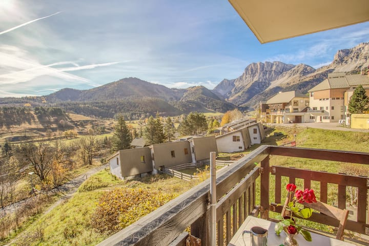 L'Onyx - apartment with view on mountain