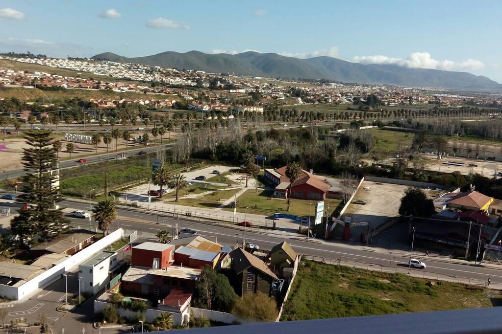 Vista a Coquimbo desde edificio