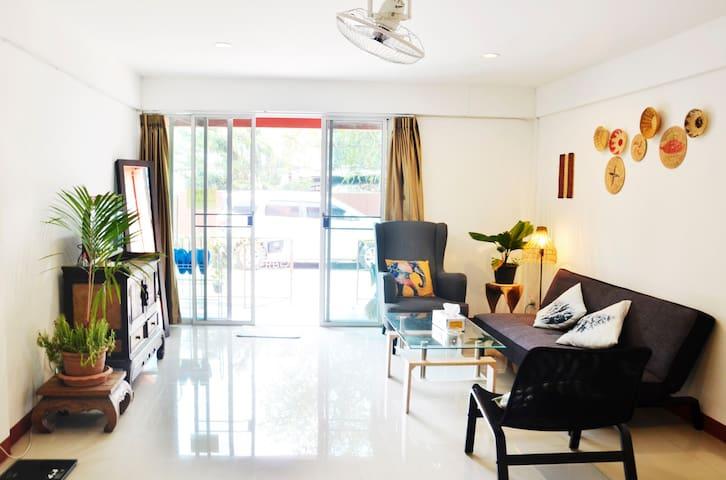 V House月租14000泰铢/整套独享复式联排别墅/近孟买市场
