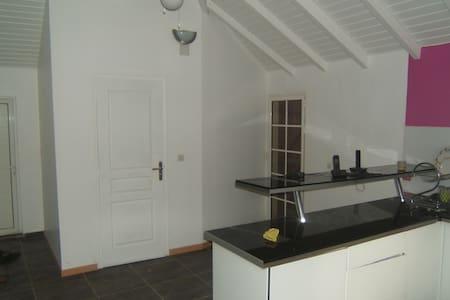 Haut de villa avec 3 terrasses. - House