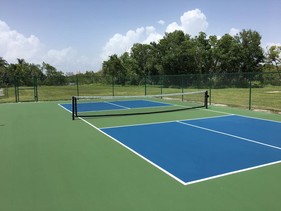 New pickleball courts.
