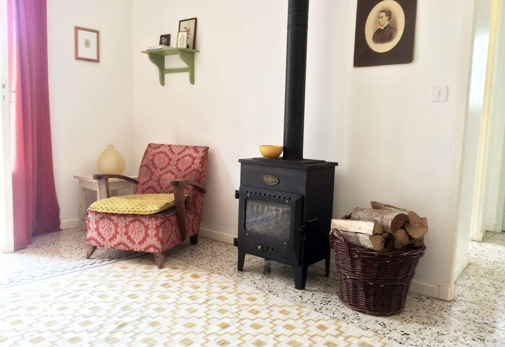 First floor: Wood stove