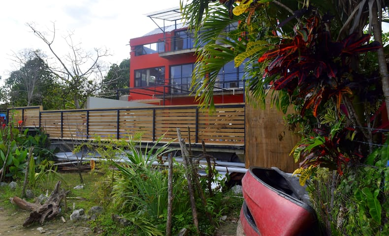 Welcome to the Villa Laguna!  Retreat on  of our red canoes, meander down the canal path, take in the views!