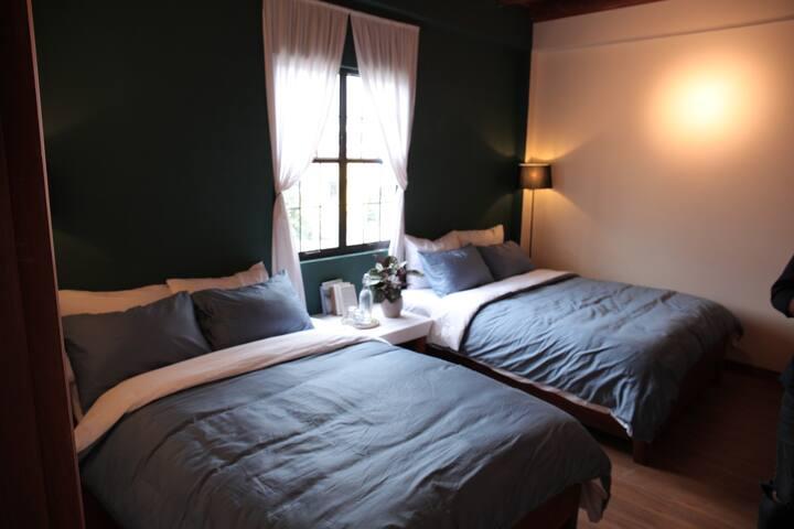 Vi-la Homestay Café I Room #5, with wide view.