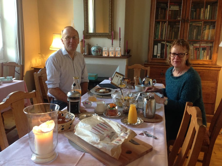 continental breakfast in the shared dining room