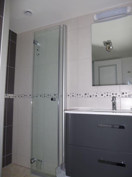 Salle d'eau,WC seul et débarras