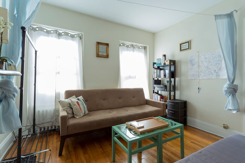 Living room again, shared common space, roomy yet cozy.