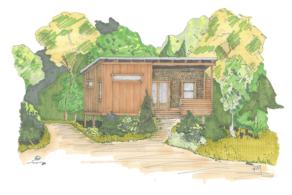 Exterior of 1BR cabin