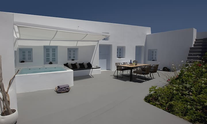 A luxury minimalist design villa