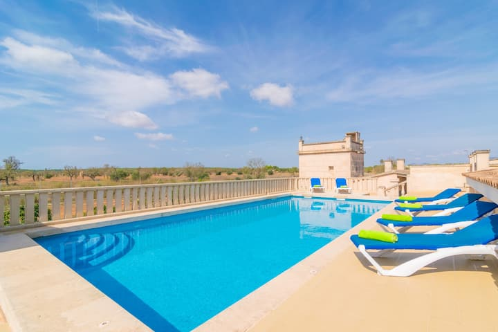 CAN PASSARELL - Villa with private pool in CAMPOS. Free WiFi