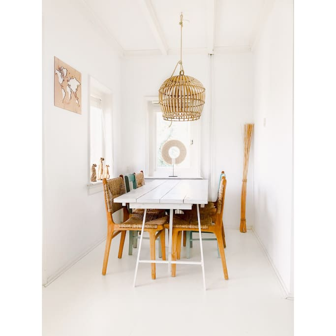 Dining area - accessories from all around the world!