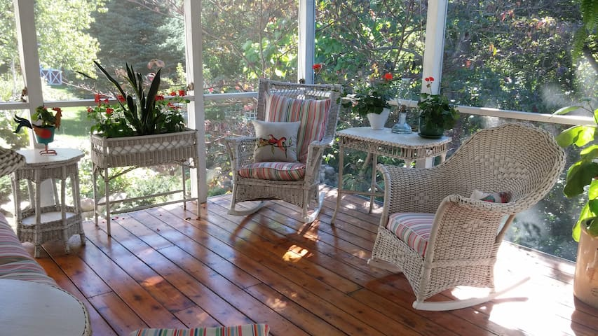 Screened porch to enjoy the outdoors