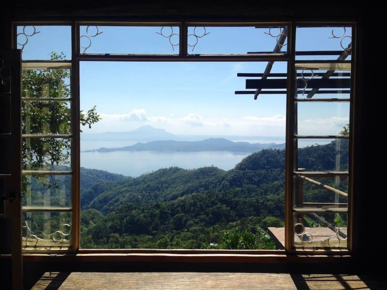 Your breakfast view in Chalet de Tagaytay