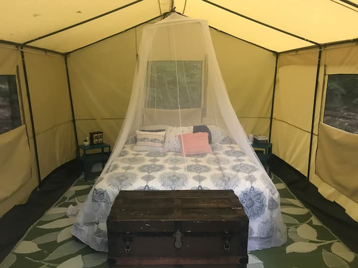 Glamping on the Tooky River at Sweetwater heated!