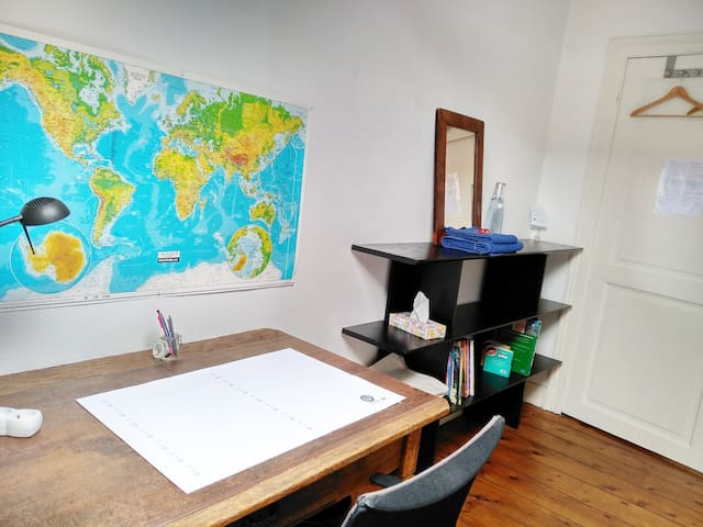 Nice space to work in your room.