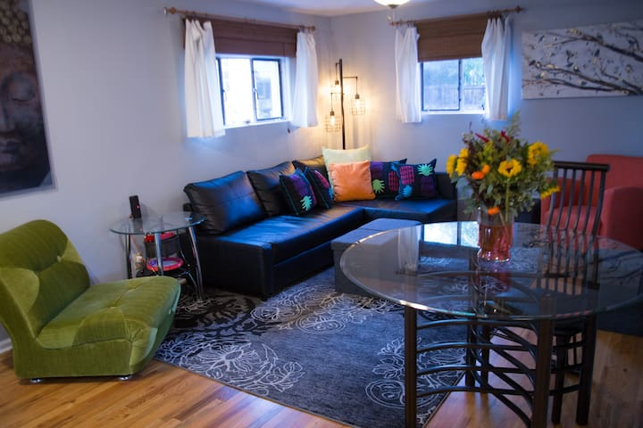Cozy living room to binge watch Netflix or socialize with family.