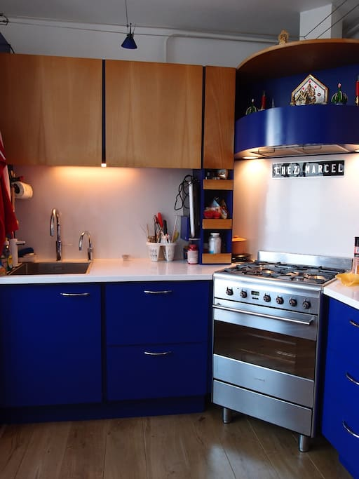 Recently renovated kitchen (new floor & counters +Quooker)