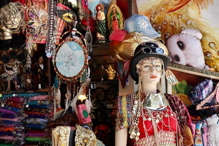 Discover unique local shops.