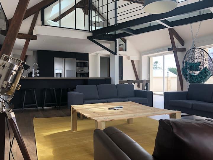 Loft Piscine Partagée avec 2 logements