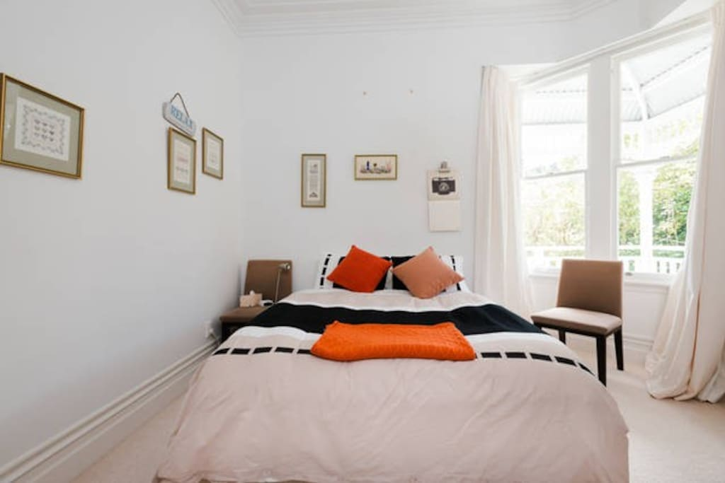 Your private bedroom, very bright and large.