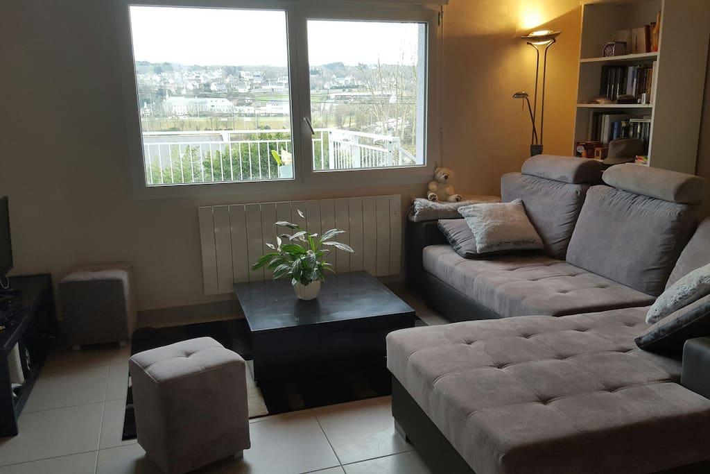 chambre dans une maison cosy casas en alquiler en landerneau bretagne francia. Black Bedroom Furniture Sets. Home Design Ideas
