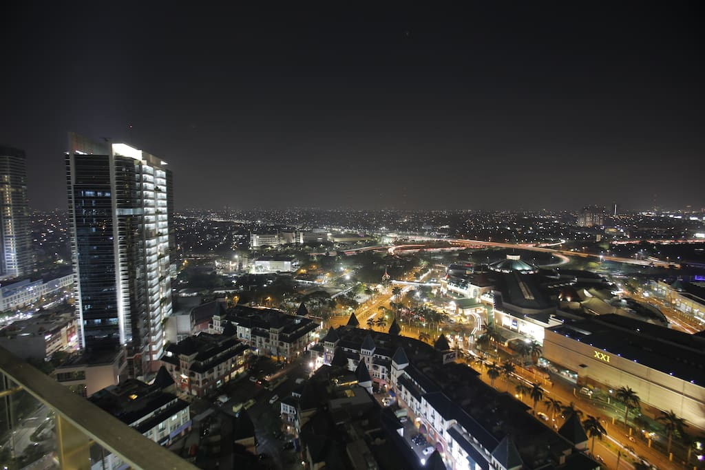 There is nothing compare to a beautiful view that takes your breath away - night view from our balcony -