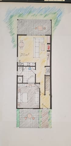 Floor Plan - 110 M2 of privater space