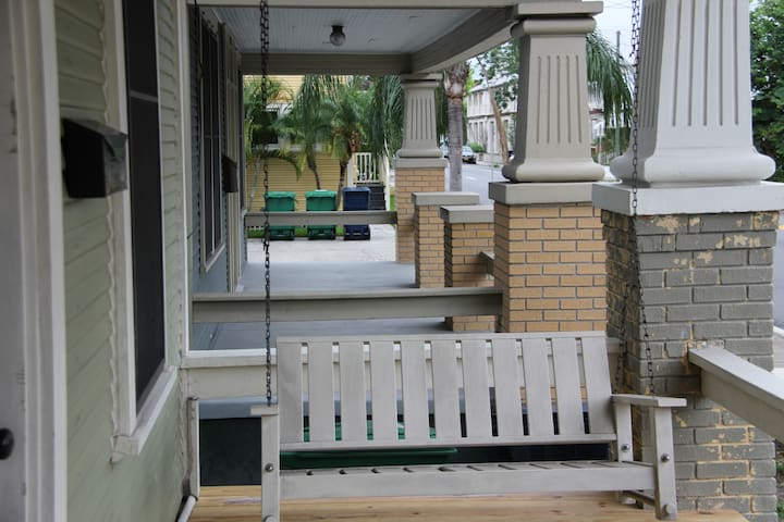 Relaxing front porch.