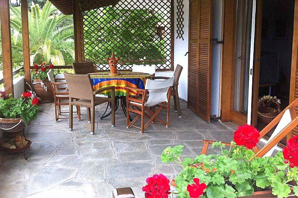 The upper veranda
