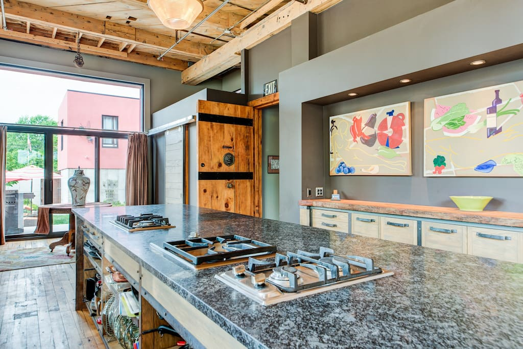 Large kitchen islands for a chef's dream!