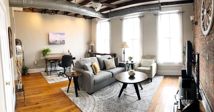Charming Footbridge Loft on Historic C-Street