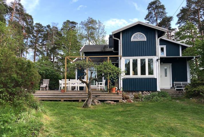 Hus på skärgårdsnära ö 20 min från Stockholms city