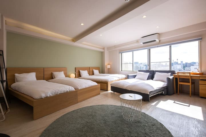 72) 6Beds 3min Shinjuku1min Metro ▶POCKET WIFI 42㎡