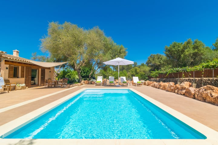 ES TANCAT PRIM - Villa with private pool in Algaida. Free WiFi