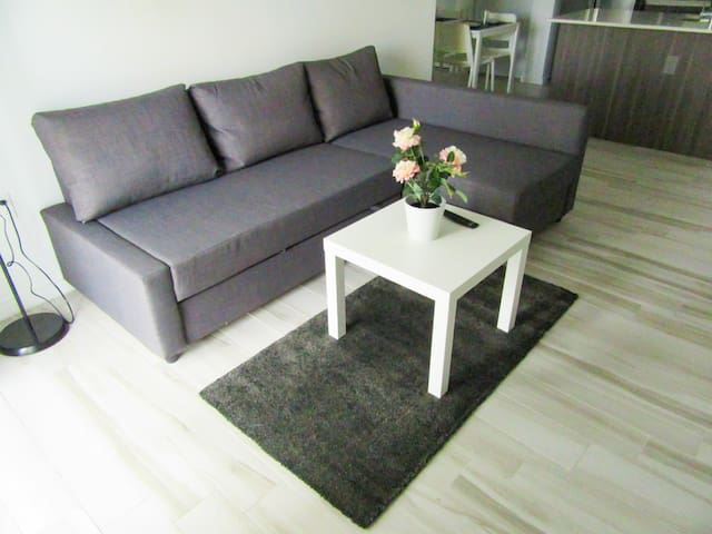 New 1Bed Modern Apt in Edgewater/Free Parking