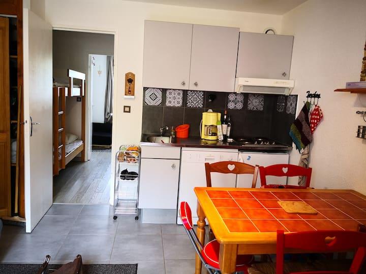 Location appart Gavarnie 4.6 pers terrasse privée