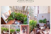 ROOFTOP MODERN Studio w GARDEN*Central tourist