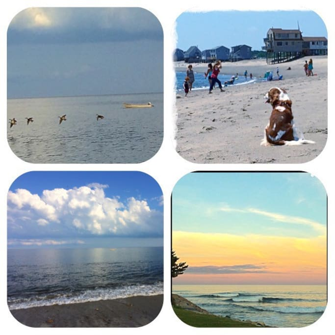 Peggotty Beach, steps away. Going to the beach is a walk not a car ride.
