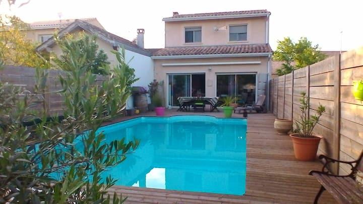 Maison Entre vignes et océan à 30 mn de Bordeaux