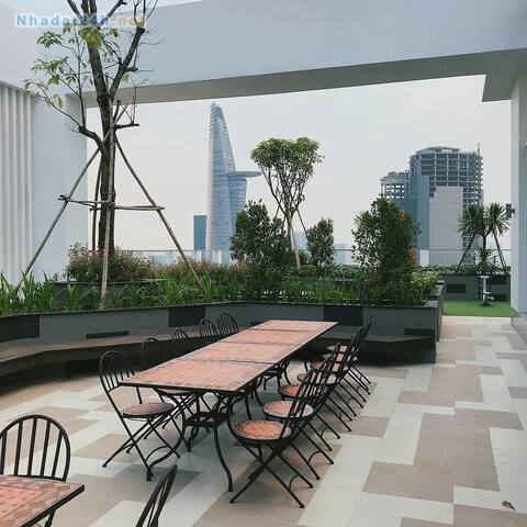 rooftop garden with nice view
