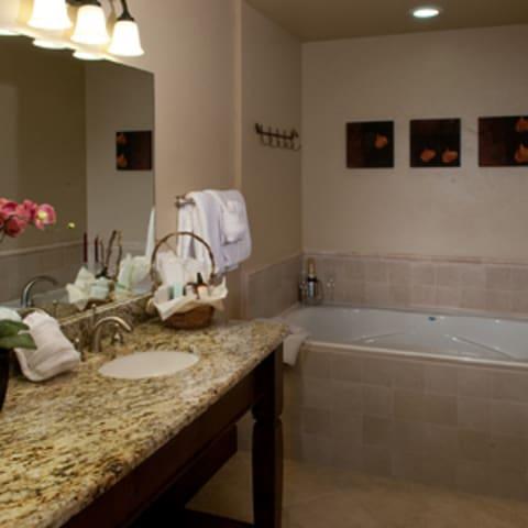 Amenity-filled Bathroom