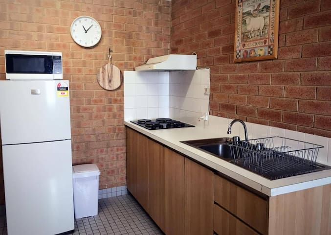 Well equipped kitchenette with all you require to prepare your own meals.