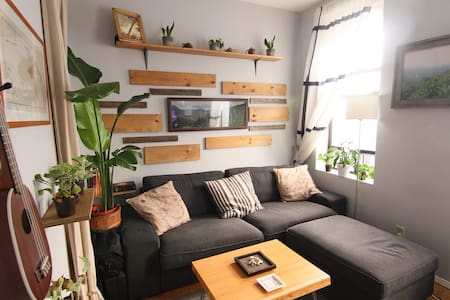 cozy west village/west soho apartment is walking distance to west village/soho/Greenwich village.  2 blocks away from multiple subway lines for easy access anywhere in the city.  Quiet bedroom makes for a great sleep and cozy living room makes for a great movie night.  (5th-fl walk up)