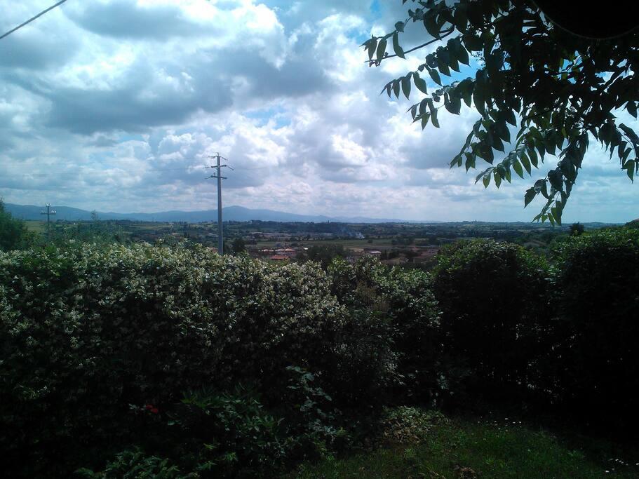 Panorama e vista dalla casa