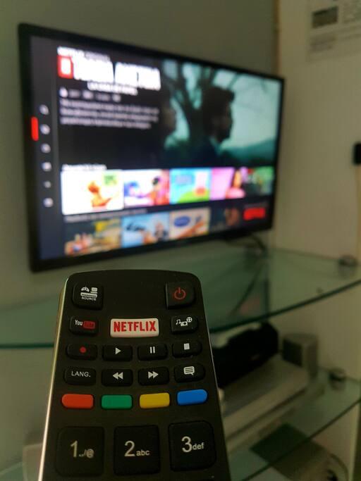 Smart TV with NETFLIX and YOUTUBE