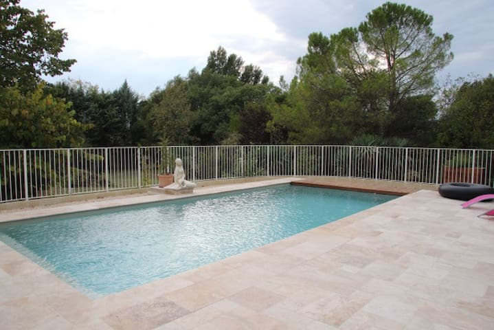 chambre dans mas avec parc paysagé et piscine - Saint-Privat-des-Vieux - Ev