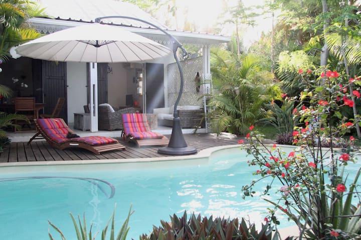 Maison meublée avec piscine, Lagon Réunion